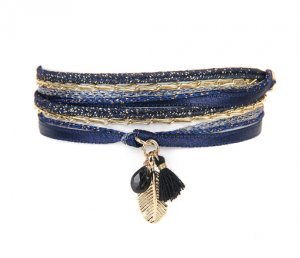 bracelet mini plumy marine