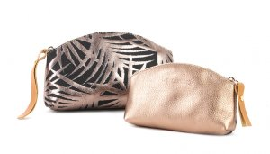 pochette PALME GM or rose & noir