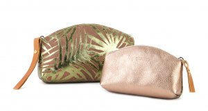 pochette PALME GM kaki & or rose